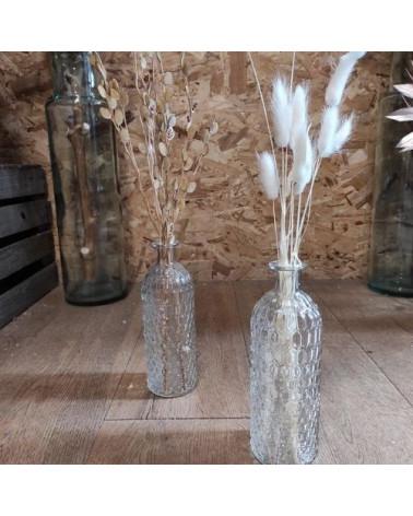 Vase bouteille fleuri